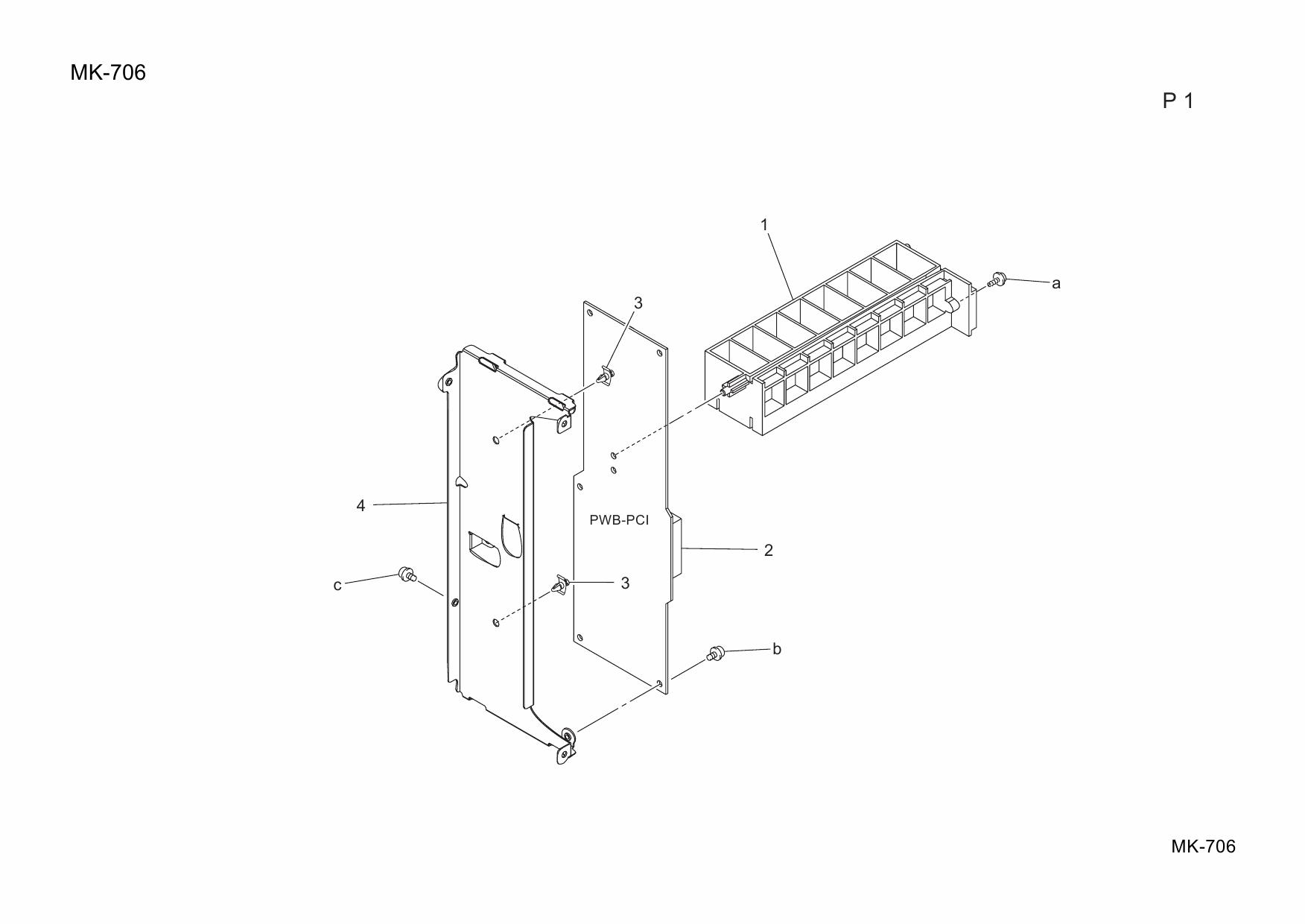 Konica-Minolta Options MK-706 Parts Manual